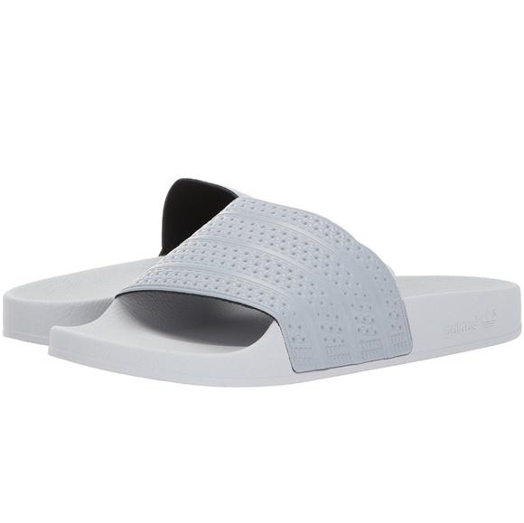 Le adidas diapositive personalizzata, white adilette poshmark